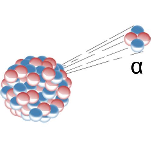 negativ geladenes atomares teilchen